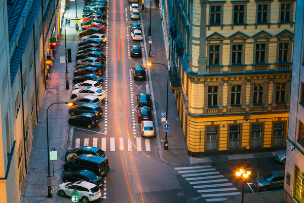 prague-czech-republic-top-view-of-traffic-and-PLW28CA-1